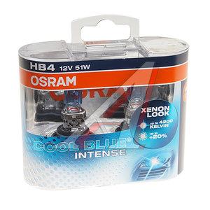 Лампа 12V HB4 51W +20% P22d 4200K бокс (2шт.) Cool Blue Intense OSRAM 9006CBI-DUOBOX, O-9006CBI2(EURO)