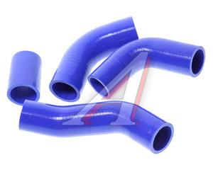 Патрубок УАЗ Патриот радиатора комплект 4шт. синий силикон 451-1303027
