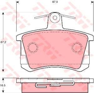 Колодки тормозные AUDI 100,A6,A8 задние (4шт.) TRW GDB1163, 443698451B