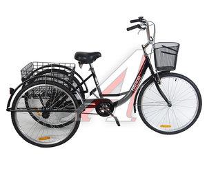 """Велосипед 26"""" 1-ск. 3-х колесный 2 корзины HILAND Tricycle-01 Black, 167"""