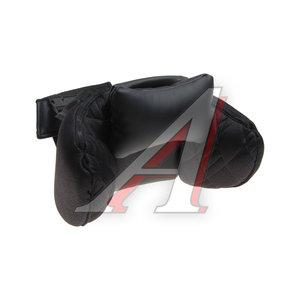 Подушка на подголовник ортопидическая эко-кожа черная Сomfort AUTOPROFI COM-0250HR BK/BK