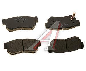 Колодки тормозные HYUNDAI Sonata 5,Getz,Tucson (04-) KIA Sportage задние (4шт.) SANGSIN SP1117, GDB3284, 58302-2EA00