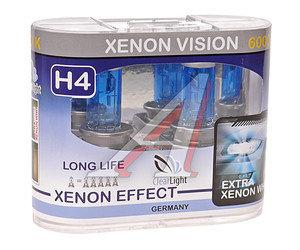 Лампа 12V H4 60/55W P43t бокс (2шт.) Xenon Vision CLEARLIGHT MLH4XV, АКГ12-60+55(Н4)