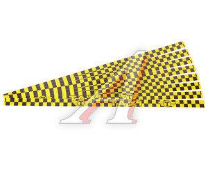 """Наклейка-знак виниловая """"Taxi"""" 4х100см желто-черная комплект (8шт.) AUTOSTICKERS 04557"""