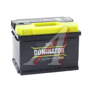 Аккумулятор DOMINATOR 55А/ч обратная полярность, низкий 6СТ55