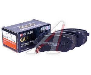 Колодки тормозные KIA Picanto задние (4шт.) HSB HP1038, GDB3370, 58302-07A10