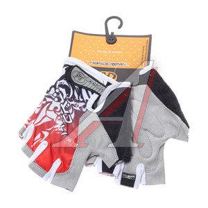 Перчатки велосипедные гель/силикон красные HANDCREW
