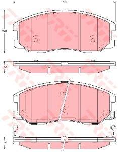 Колодки тормозные CHEVROLET Captiva (06-) OPEL Antara (06-) передние (4шт.) TRW GDB1715, 96626069
