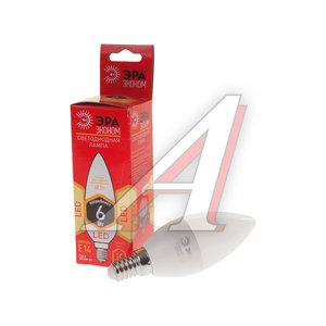 Лампа светодиодная E14 B35 6W (40W) 220V теплый ECO ЭРА ЭРА LED-SMD-B35-6W-827-E14 ECO, ER-LED146-2K, Б0019071