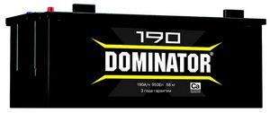 Аккумулятор DOMINATOR 190А/ч обратная полярность 6СТ190з, 83032