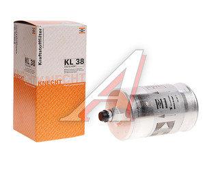 Фильтр топливный MERCEDES C (W201),E (W124),G (W463),S (W140) MAHLE KL38, A0024774401
