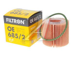 Фильтр масляный TOYOTA Corolla (09-),Auris (12-) FILTRON OE685/2, OX416D1, 04152-37010