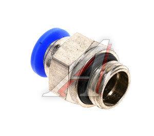 Соединитель трубки ПВХ,полиамид d=6мм (наружная резьба) М12х1.25 прямой PC M12x1.25 d=6, АТ-0705
