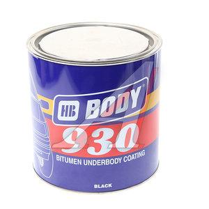 Антикор для наружных поверхностей каучук черный 2.5л 930 BODY 9300200003, BODY
