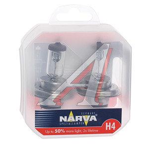Лампа 12V H4 60/55W +50% P43t бокс (2шт.) Range Power NARVA 488612100, N-48861RP2, АКГ12-60+55(Н4)