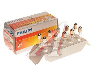 Лампа 12V C3W SV6 двухцокольная PHILIPS 12848CP, P-12848