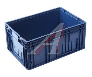 Ящик полимерный многооборотный 594х396х280мм синий IPLAST IP-378844, 12.505.61