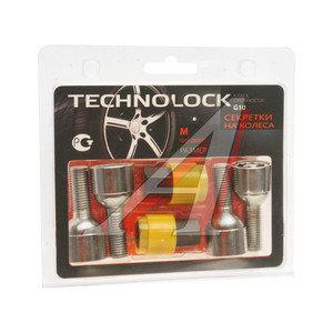 Болт колеса М12х1.5х28 секретки сфера комплект 4шт. 2 головки под ключ 17мм TECHNOLOCK TL-M, M
