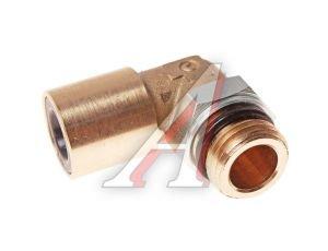 Соединитель трубки ПВХ,полиамид d=10мм (наружная резьба) М16х1.5 угольник латунь CAMOZZI 9502 10-M16X1.5