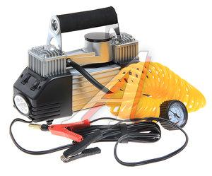 Компрессор автомобильный 70л/мин. 10атм. 25A 12V на клеммы АКБ (2-х цилиндровый, фонарь) MEGAPOWER M-53500