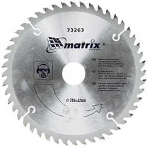 Диск пильный 160х20мм 24 зуба + кольцо 16/20 MATRIX 73211