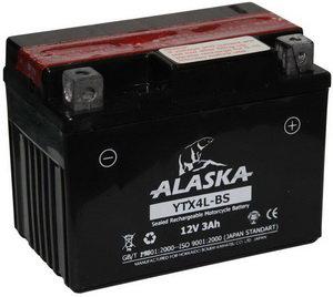 Аккумулятор ALASKA 3А/ч мото 6СТ3 YTX4L-BS, 83501