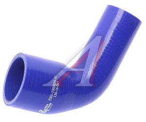 Патрубок ЗИЛ-5301 радиатора верхний (L=100х85мм, d=38/52) силикон 5301-1303025-10