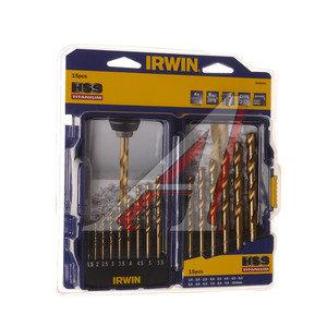 Сверло по металлу с титаном 1.5-10.0мм набор 15шт. HSS Titanium IRWIN 10503991