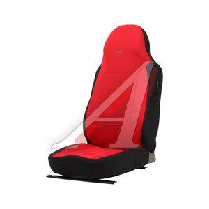 Авточехлы универсальные полиэстр (L) черно-красные (AIRBAG 3 молнии 7 предм.) Antares PSV 122149, 122149 PSV