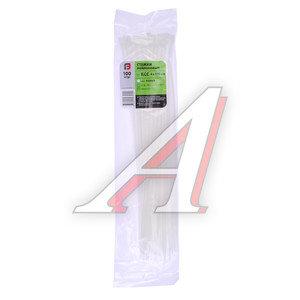 Хомут-стяжка 370х4.0 пластик белый (100шт.) FORTISFLEX 1004370, 49400