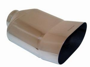 Насадка на глушитель вход. d=58, вых. d=135 (L=200мм) овальная PRO SPORT RS-01633