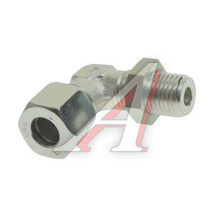 Штуцер соединительный угловой M14х10мм (фитинг резьбовой-гайка) сталь WABCO 8938300340