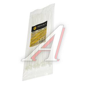 Хомут-стяжка 200х3.0 пластик белый (50шт.) ЭВРИКА ER-03201, CHS-3x200W-50