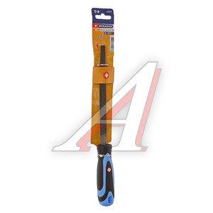 Напильник трехгранный 200мм №2 прорезиненная ручка BRIGADIER 62027
