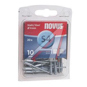 Заклепка 4х10 слепая набор 20шт. сталь NOVUS NOVUS S4x10, 045-0036