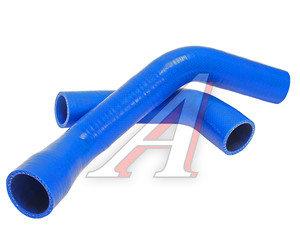 Патрубок ГАЗ-3302 дв.CUMMINS после 2012 г. радиатора комплект 2шт. синий силикон 3302-1303025-40