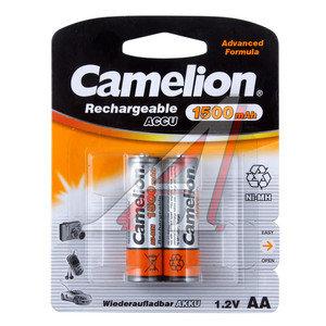 Батарейка AA HR6 1.2V аккумулятор Ni-MH 1500mAh блистер (2шт.) CAMELION C-150AAKCбл