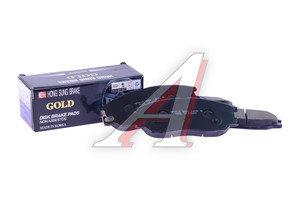 Колодки тормозные HYUNDAI Santa Fe,Trajet,XG передние (4шт.) HSB HP0016, GDB3360, 58101-39A60