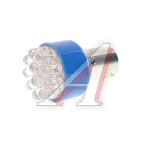 Лампа светодиодная 12V P21W BA15s 12 светодиодов Blue MEGAPOWER 30401B, M-30401B-OLD, А12-21-3