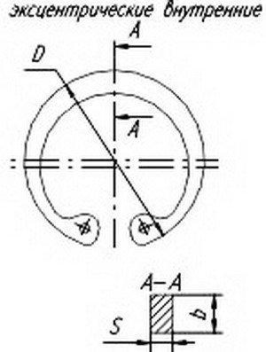 Скоба ЗИЛ крепления трубопровода d=21.8; S=1.0; b=2.2 РААЗ 308758-П29