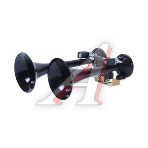 Сигнал звуковой 24V 1A 320/400Hz 125дБ воздушный 2-х рожковый 2 тона, черный KORSA 81DH2400, KS-81DH