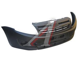 Бампер ВАЗ-2190 передний в сборе с облицовкой радиатора АвтоВАЗ 2190-2803015-00, 21900280301500, 21900-2803015-00