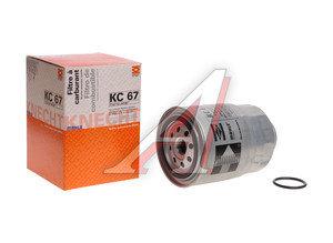 Фильтр топливный NISSAN Pathfinder (R51M),Primera (P10,P11,P12),X-Trail (01-) (D/TDI) MAHLE KC67, 16403-59E0A