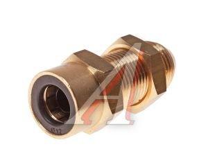 Соединитель трубки ПВХ,полиамид d=12мм (наружная резьба) М18х1.5 прямой латунь CAMOZZI 9590 12-M18X1.5