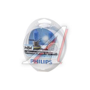 Лампа 12V HB4 55W P22d 5000K бокс (2шт.) Diamond Vision PHILIPS 9006DVS2, P-9006DV2