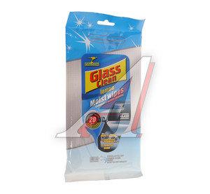 Салфетка влажная для очистки стекол 22х19см в мягкой упаковке 20шт. FALCON Glass Clean