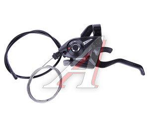Шифтер велосипедный тормозной левый (3 скорости) длина тросса 1800мм черный SHIMANO ASTEF51LSBL