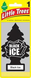 Ароматизатор подвесной пластина (лед черный) фигура Елочка CAR FRESHNER CF-10155