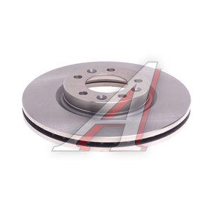 Диск тормозной PEUGEOT 407 (04-10) передний (1шт.) KORTEX KD0210, DF6121, 4249.L3