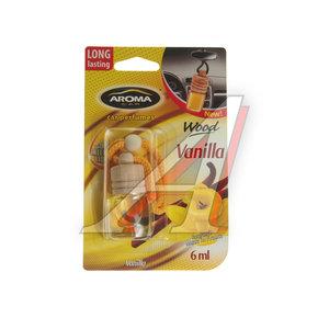 Ароматизатор подвесной жидкостный (ваниль) с деревянной крышкой 6мл Car Wood AROMA 63107, Aroma Car Wood (vanilla)